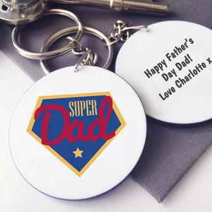 Personalised Super Dad Keyring