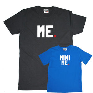 'Me' And 'Mini Me' T Shirt Set - gifts for fathers