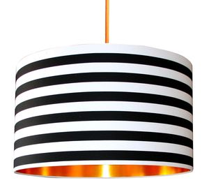 Stripes Monochrome Shade With Copper Or Gold Lining