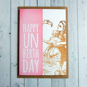 Alice In Wonderland Unbirthday Birthday Card - birthday cards