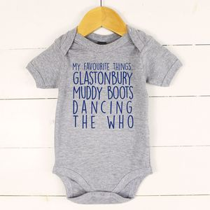 'My Favourite Things' Personalised Baby Vest
