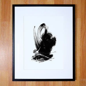 Black And White Abstract Giclee Artwork Print