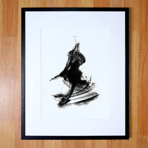 Abstract Black And White Artwork Print