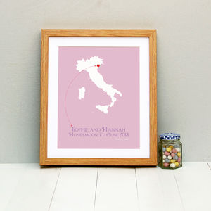 Honeymoon In Venice Personalised Print