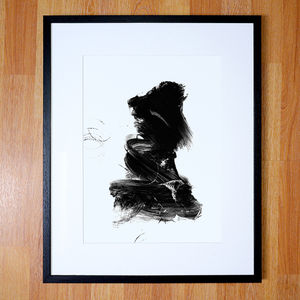 Contemporary Abstract Print Black And White