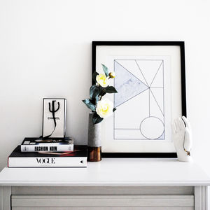 Scandinavian, Triangle Abstract Print 'Centre Point'