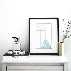 Scandinavian Print Available Framed 'Linear'