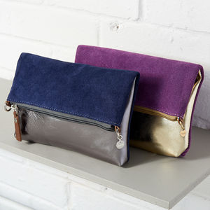 Personalised Reversible Leather Two Way Bag - gifts for her