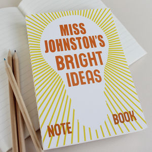 Personalised 'Bright Ideas' Notebook - back to school