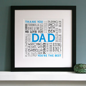 Personalised Memories Word Art - posters & prints