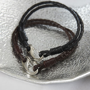 Men's Leather Bracelet - jewellery & cufflinks