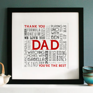 Personalised Memories Word Art - typography