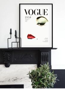 Vogue Cover Girl 1950's - posters & prints