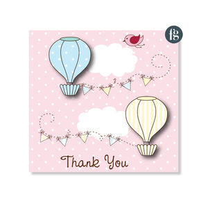 Up, Up And Away Thank You Cards