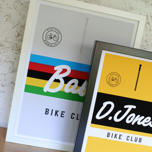 Personalised Cycling Jersey Print - personalised