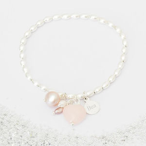 Create Your Own Amelie Personalised Bracelet - flower girl jewellery