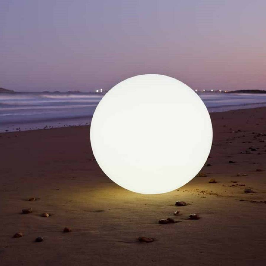 Colour changing outdoor ball light 30 and 50cm by jusi colour white led globe colour changing outdoor light in the aloadofball Choice Image
