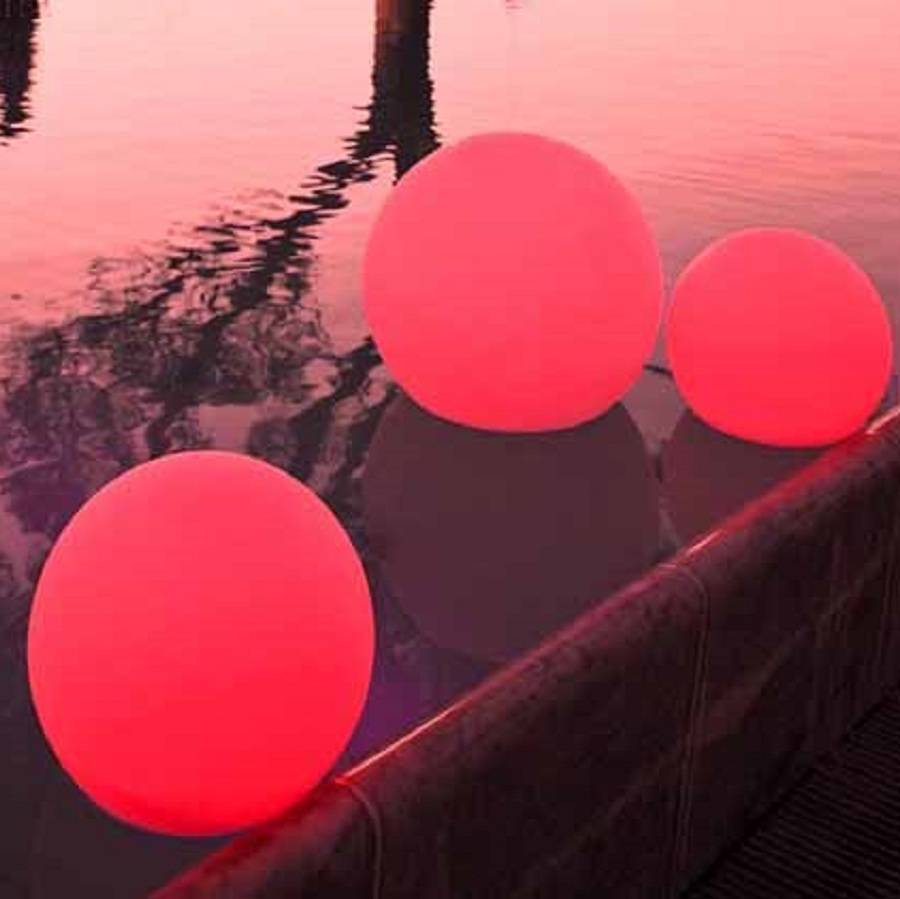 Colour changing outdoor ball light 30 and 50cm by jusi colour colour changing outdoor light in the pool red aloadofball Choice Image
