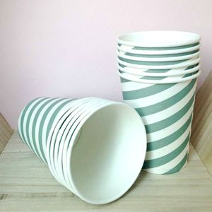 Vintage Style Stripey Party Cups
