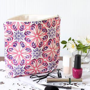 Block Printed Wash Bags