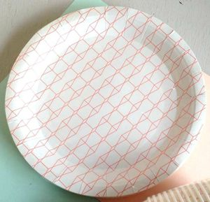 Harlequin Paper Party Plates - summer parties
