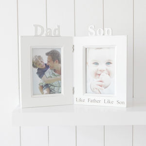 Personalised Dad And Son Photo Frame