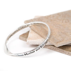 Mother And Son Message Bangle