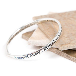 Aunty Message Bangle - bracelets & bangles