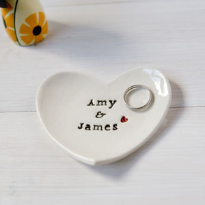 Personalised Wedding Gift Ring Dish - jewellery storage & trinket boxes