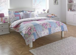 Rosie Pink Floral Double Duvet Set - bedspreads & quilts