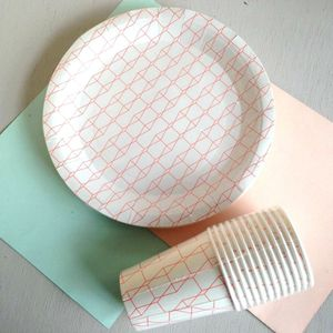 Harlequin Paper Party Plates