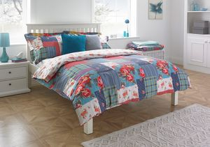 Rosie Red Floral Double Duvet Set - bedspreads & quilts