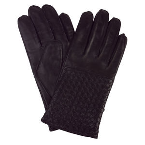 Melbury, Men's Woven Leather Silk Lined Glove