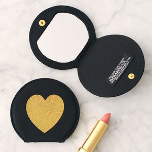 Glitter Heart Pocket Mirror