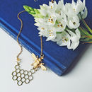Bee And Honeycomb Necklace