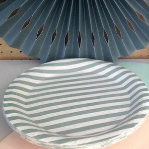 Vintage Style Stripey Paper Plates - table decorations