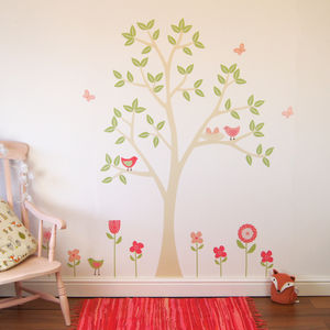 Spring Flower Garden Wall Stickers - decorative accessories