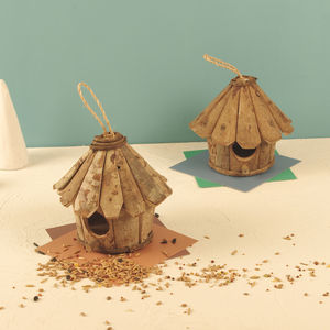 Natural Bark Hanging Bird House