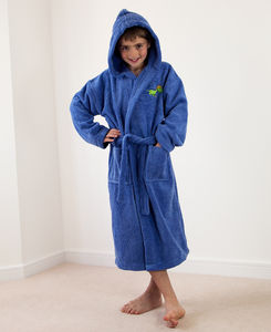 Personalised Boy's Hooded Bathrobe