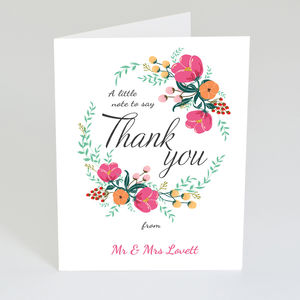 Personalised Vintage Thank You Card