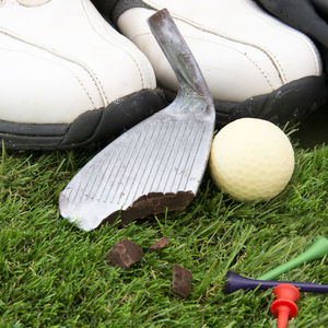 Chocolate Golf Ball And Iron - gifts under £25 for him