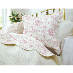 Red Rosa Kingsize Quilted Bedding Set - bedspreads & quilts
