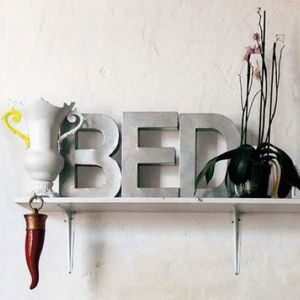 Hand Welded Iron Letter - art & decorations