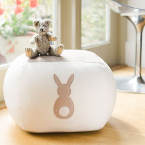 Easter Bunny Personalised Beanbag - baby's room