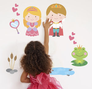 Fairytale Princess And Prince Fabric Wall Stickers - decorative accessories