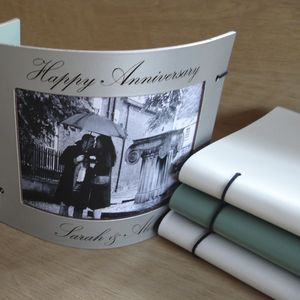 Personalised Leather Wedding Anniversary Photo Frame
