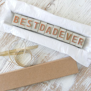 'Best Dad' Father's Day Card Concrete Letter Message