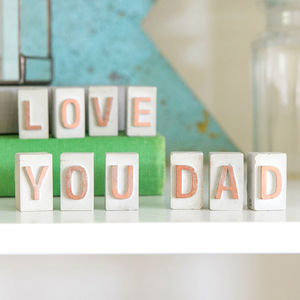 'Dad Love You' Father's Day Concrete Message