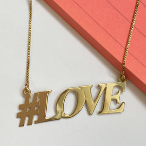 Hashtag Love Necklace