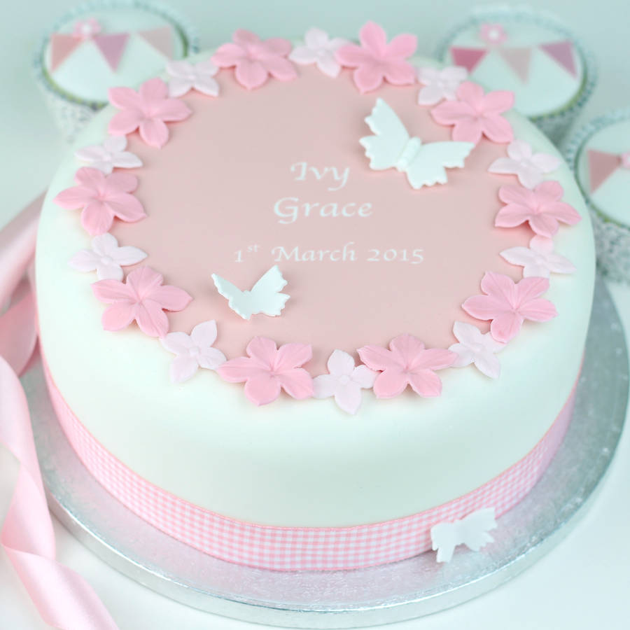 Cake Decorations For Christening Cake : personalised girls christening cake decoration kit by ...